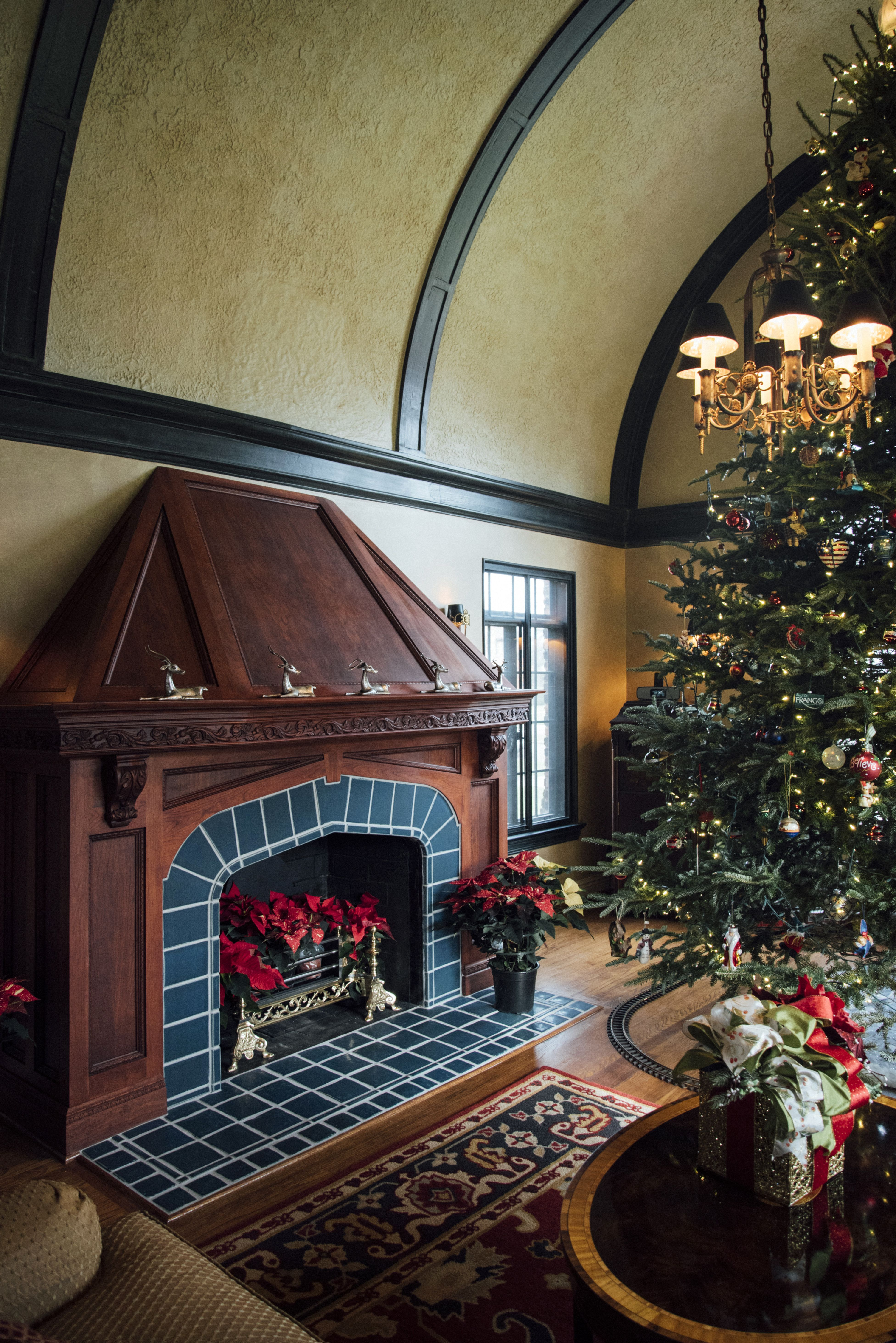 cozy up around your pewabic fireplace tile for the home