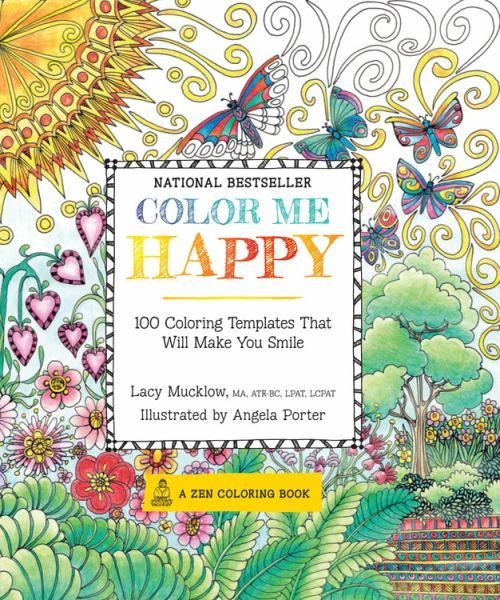 Color Me Happy Adult Coloring Books Features Over 100 Joyful Templates