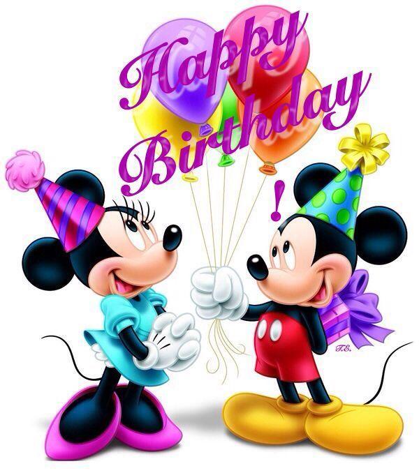 Mickey And Minnie Happy Birthday Quote Disney Birthday Happy Birthday Happy Birthday Wishes