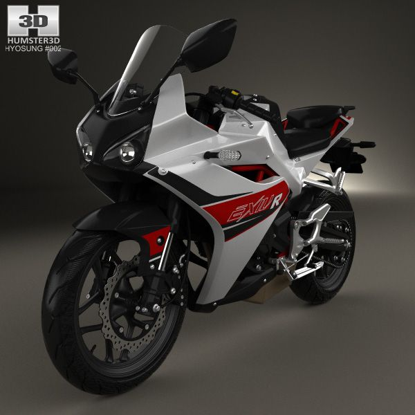 Hyosung GD250R 2015 3d model from Humster3D.com
