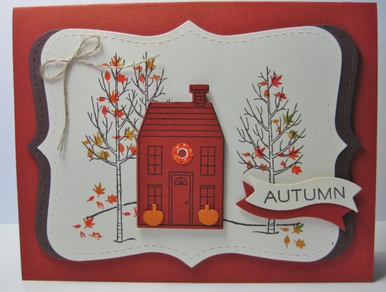 Autumn Holiday Home Card