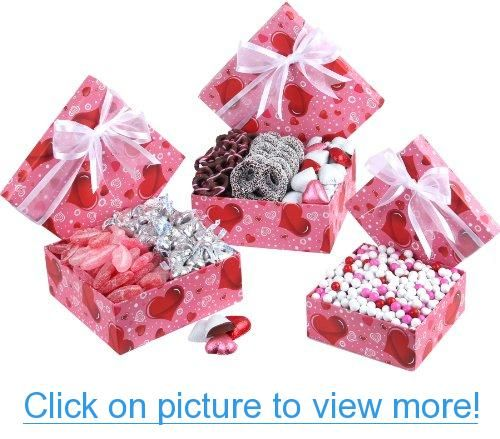 Valentines Day 3 Tier Love Tower Gift Box Fillied With Chocolate