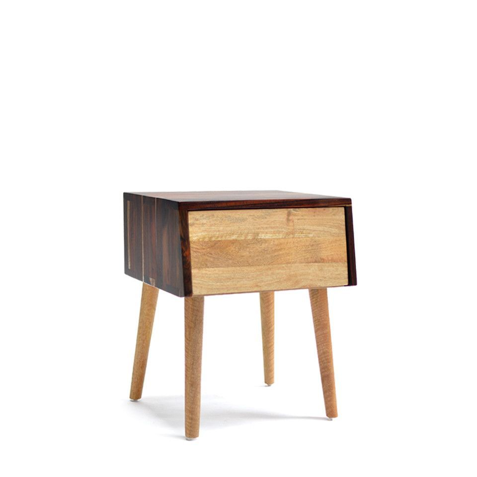 Lumi Nightstand – From the Source Online Store - sonokeling frame & mango drawers
