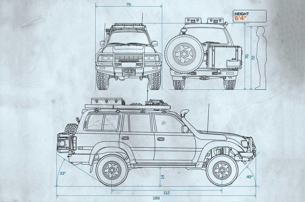 1994 toyota land cruiser fzj80 dimensions landcruiser plans rh pinterest com 1995 Toyota Land Cruiser Problems 1994 Toyota Land Cruiser Specs