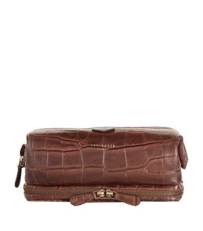 42caf08454265a TED BAKER Arthur Croc Embossed Wash Bag.  tedbaker