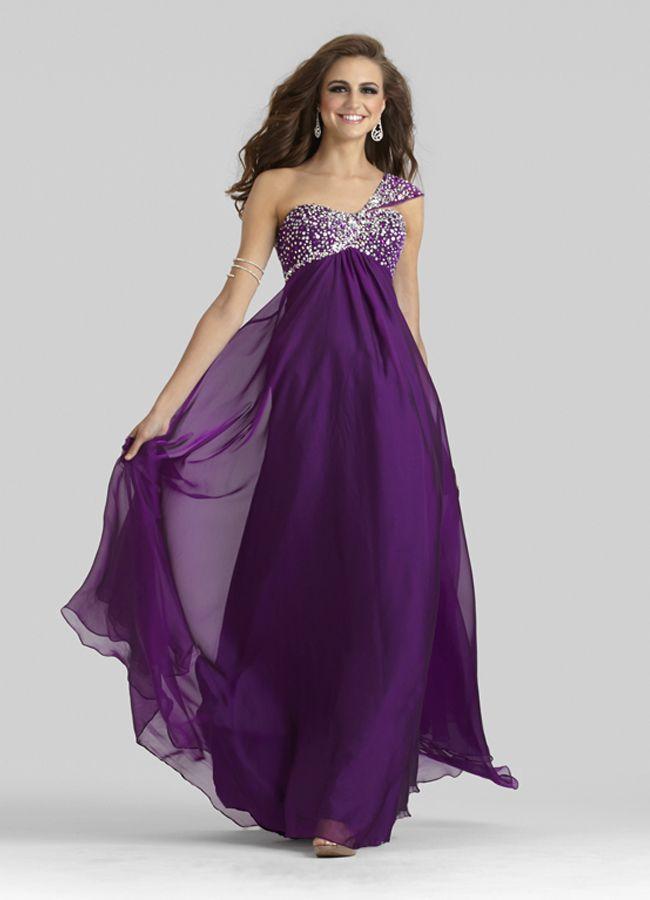 One Shoulder Gown 2328 | Noche, Vestiditos y Boda