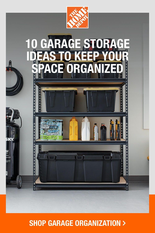 10 Garage Storage Ideas To Keep Your Space Organized In 2020 Garage Storage Space Organizer Diy Bedframe With Storage
