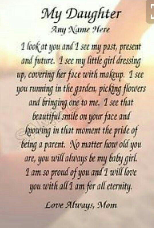 My Daughter | Inspiration | Ρητά, Λόγια αγάπης, Κόρες