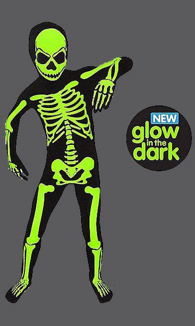 Dress Up & Pretend Play Morphsuits Glow in The Dark Skeleton Kids Halloween Costume