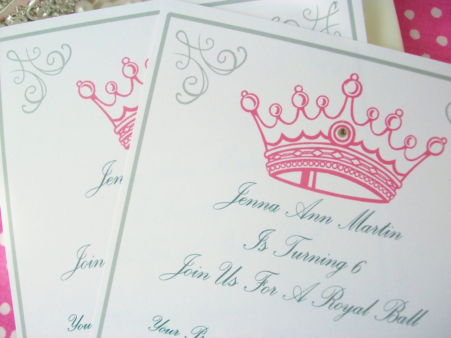 Princess Party Invitations Set Of 12 Not Printable 18 00 Via Etsy