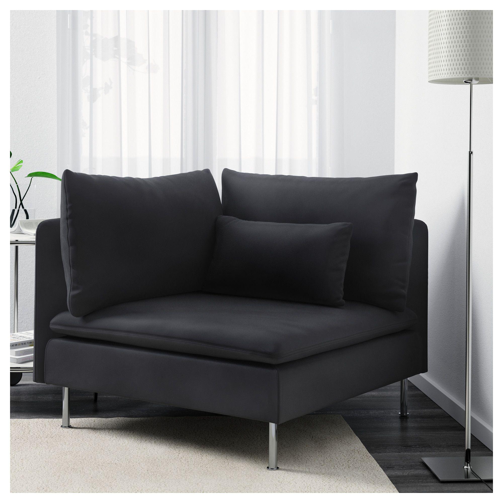 ikea  sÖderhamn corner section samsta dark gray  bedroom