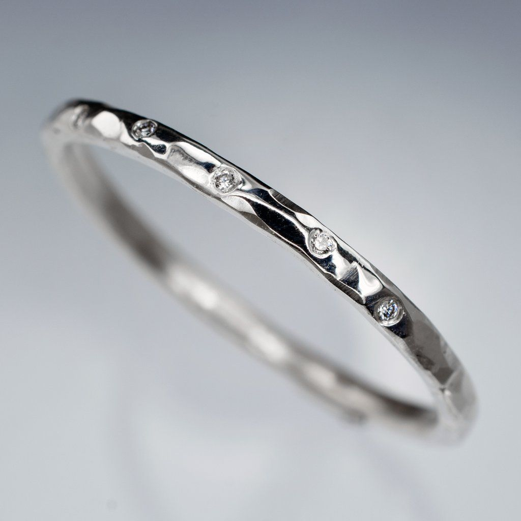 diamond can things learn skinny awesome rose you wedding band hammered from ring thin texture gold bands