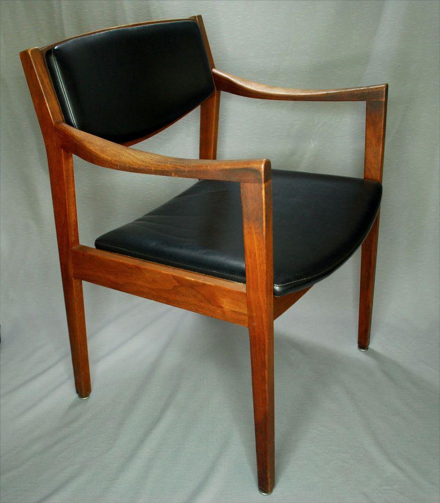 Vintage Gunlocke Mid Century Modern Mcm Danish Style Arm Chair
