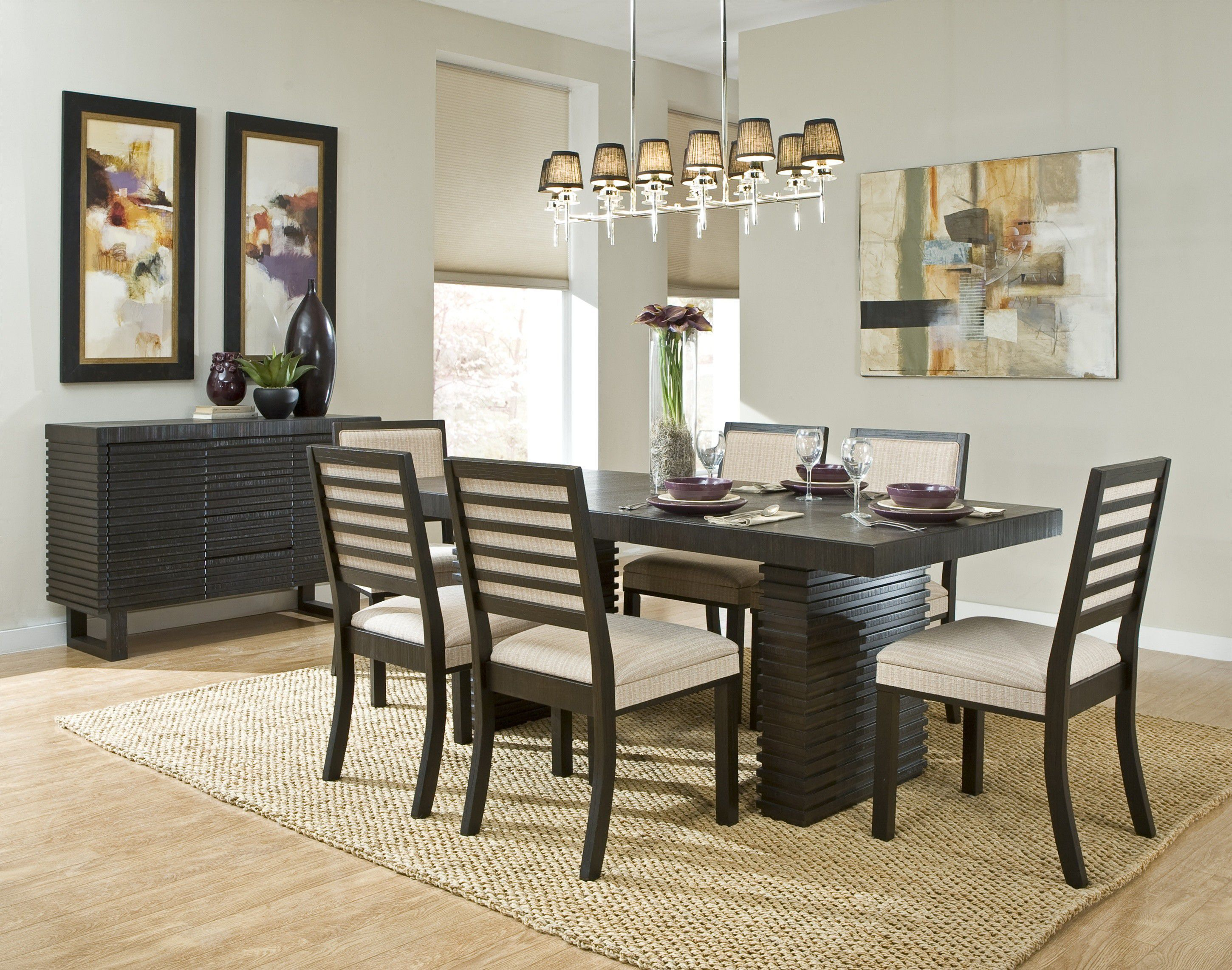 Brilliant Contemporary Decor In Modern Dining Room Tables With Endearing Fancy Dining Room Furniture Inspiration