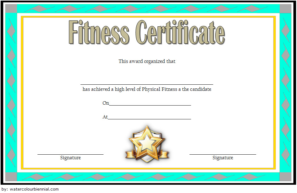 Physical Fitness Award Certificate Template Free 1 Certificate Templates Awards Certificates Template Physical Fitness