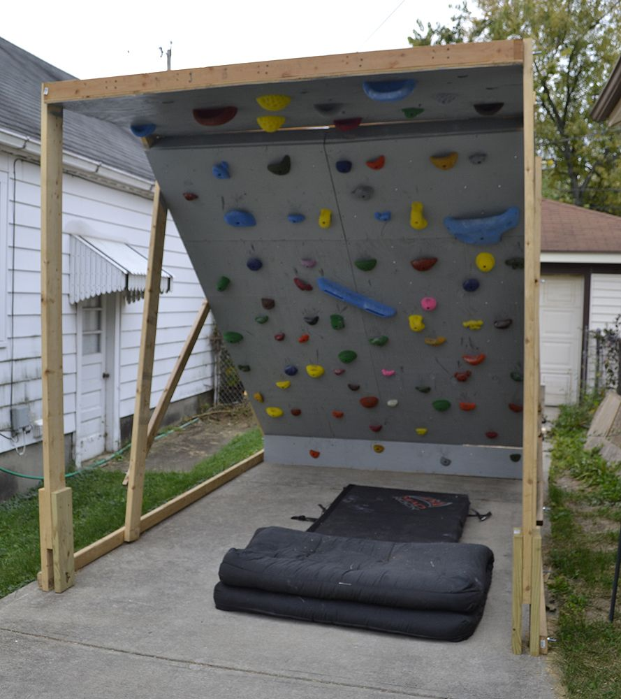 Building a bouldering wall Our Life Outside Crafty Pinterest
