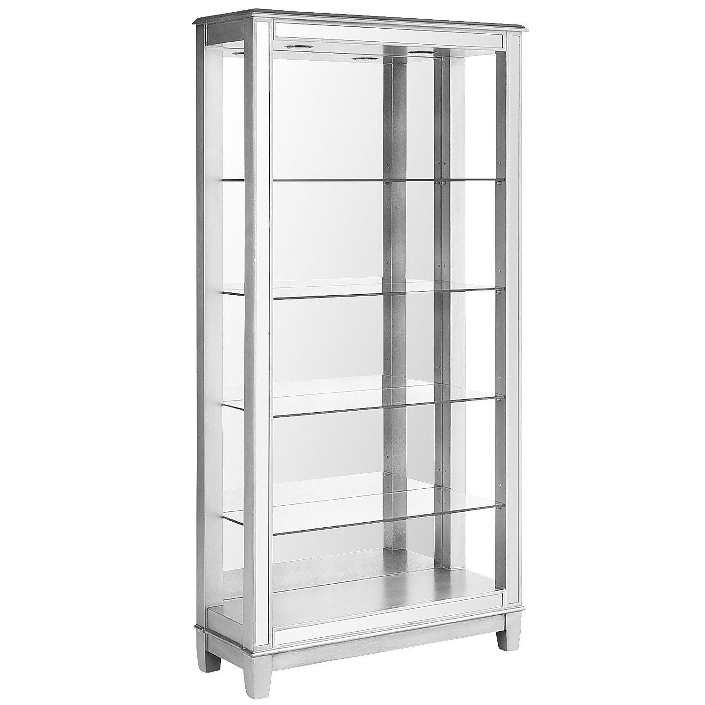Hayworth Mirrored Silver Tall Bookshelf