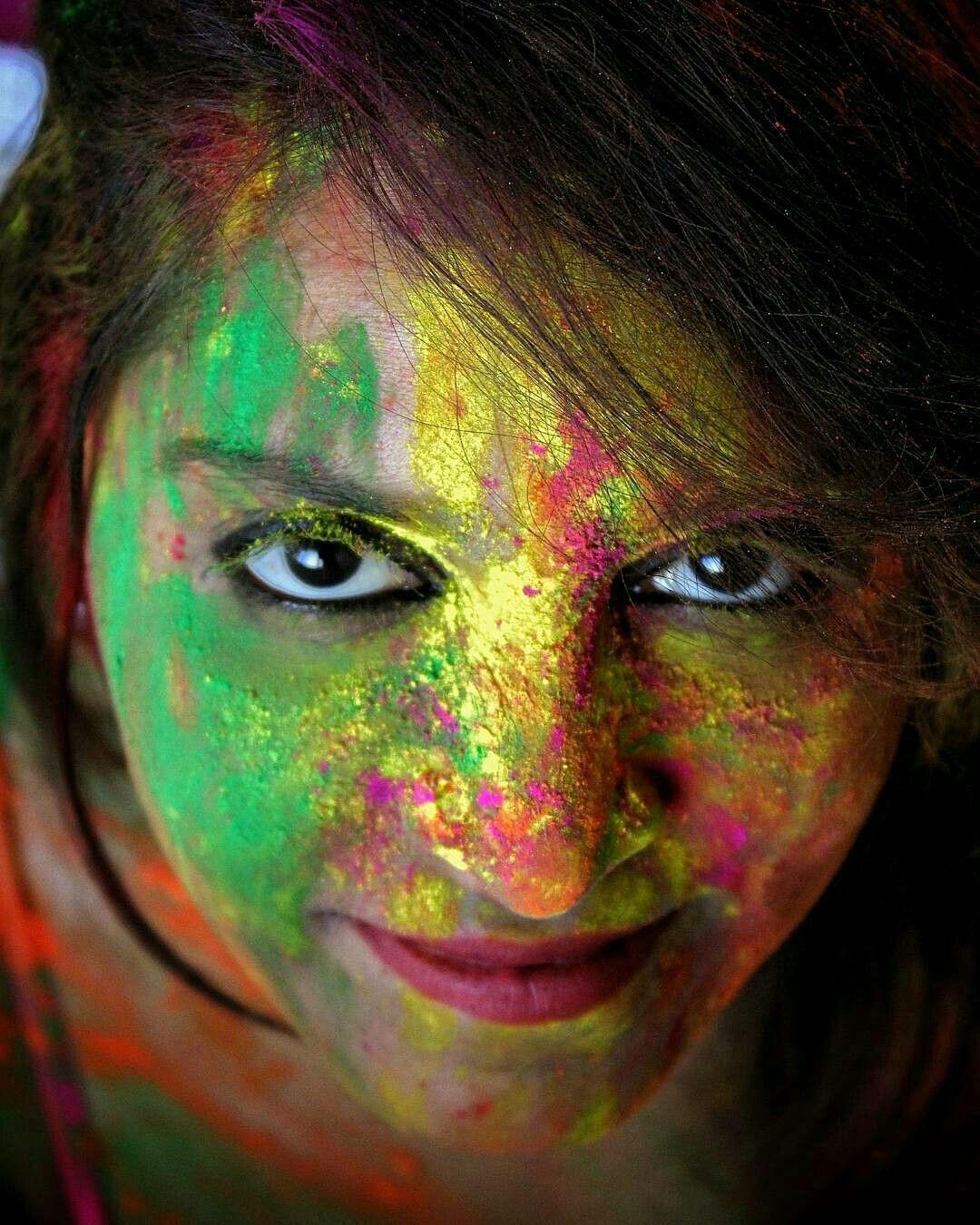 happy_Holi Holi girls, Color festival, Carnival face paint