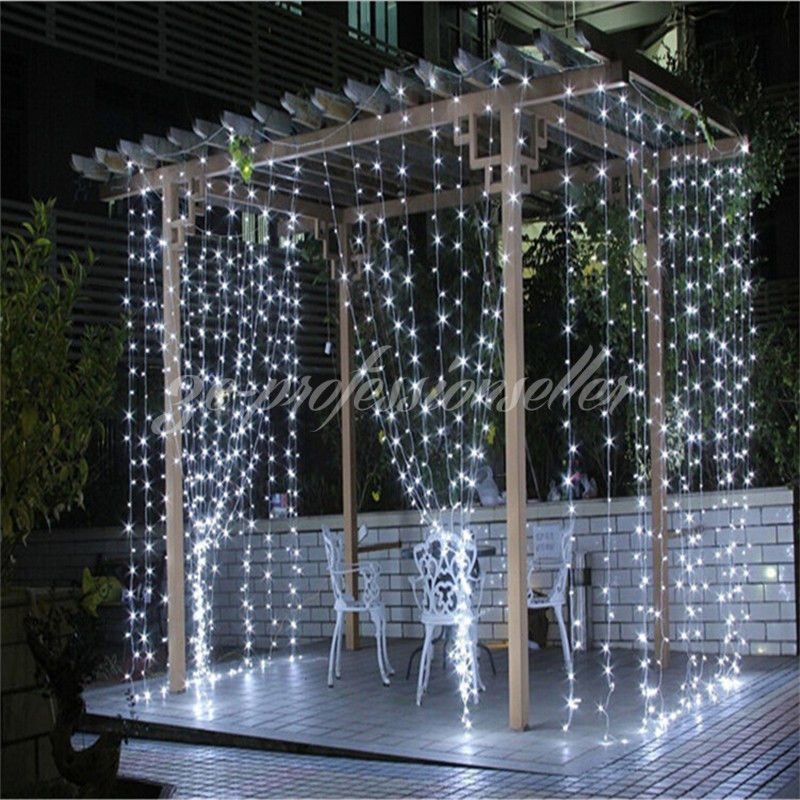 Connectable 3M*3M Indoor Outdoor LED Curtain Fairy Light Window ...