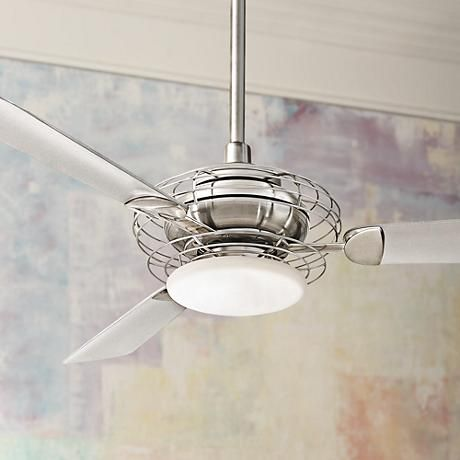 52 Minka Aire Acero Steel And Nickel Ceiling Fan