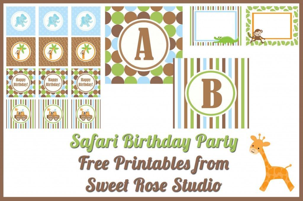 Free Printables Safari Birthday Party Safari Birthday Birthday Party Printables