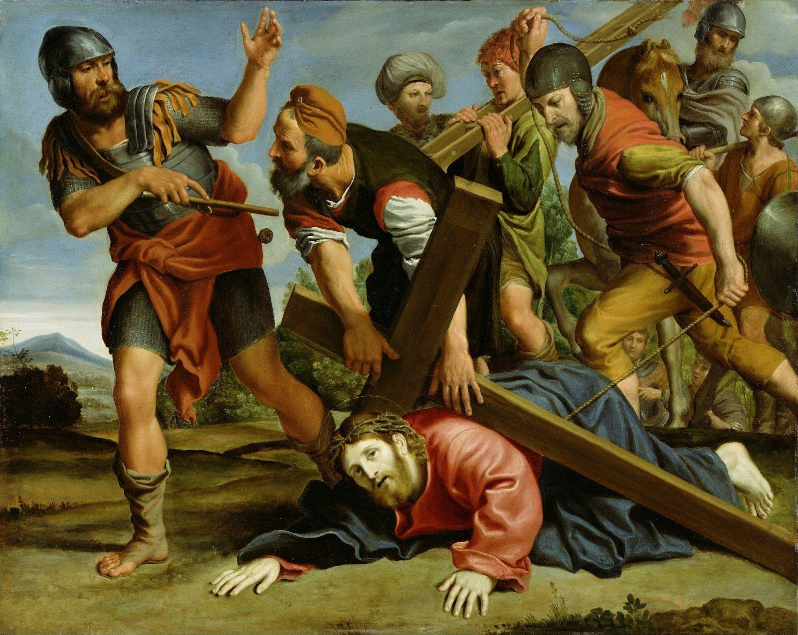 Resultado de imagem para jesus falls for the third time