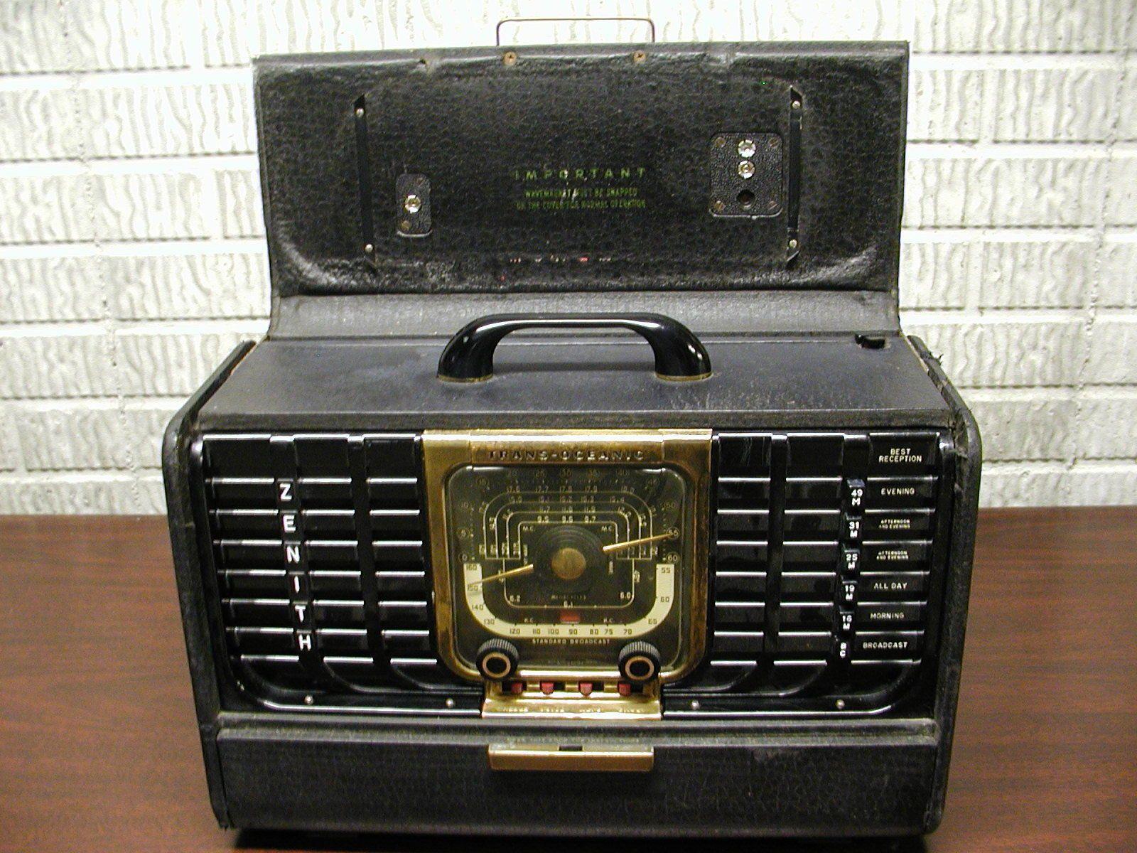 Zenith Transoceanic Radio Model 8g005ytz1 Parts Or Restore Radio Restoration Zenith
