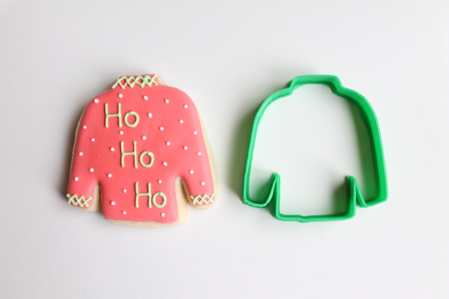 """They see """"Ugly Christmas Sweater Christmas Cookie Cutter."""" I see JOCKEY SILKS!  Etsy https://www.etsy.com/listing/206304051/ugly-christmas-sweater-christmas-cookie"""