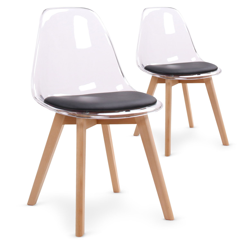 Chaise noire bois for Chaise noir et bois