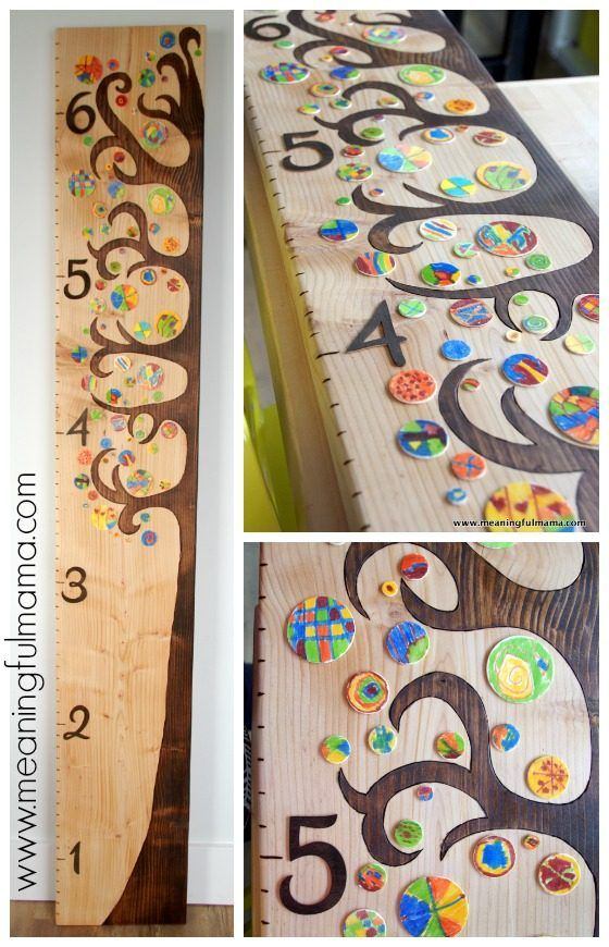 Diy Wooden Tree Growth Chart Crafts With Kids Pinterest