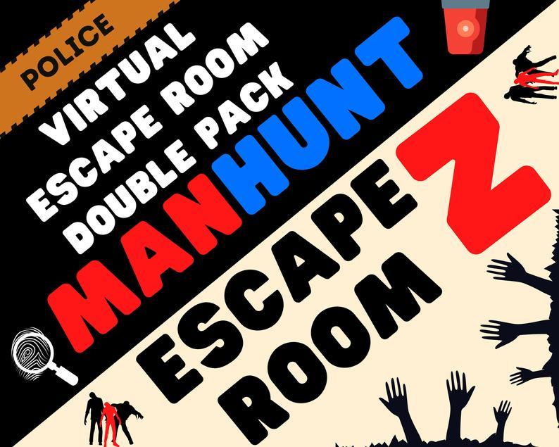 Virtual Escape Room Games Night Lockdown Zoom Screen Etsy Escape Room Game Escape Room Game Night