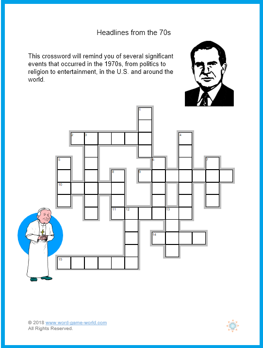 Large Print Crossword Puzzles For
