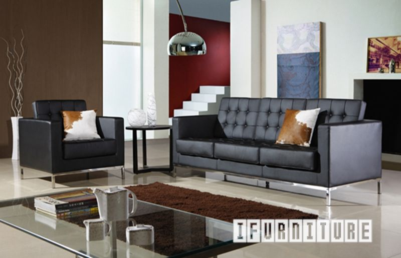 FLORENCE KNOLL Sofa Replica *Italian Leather , Replica Reproduction, NZu0027s  Largest Furniture Range With