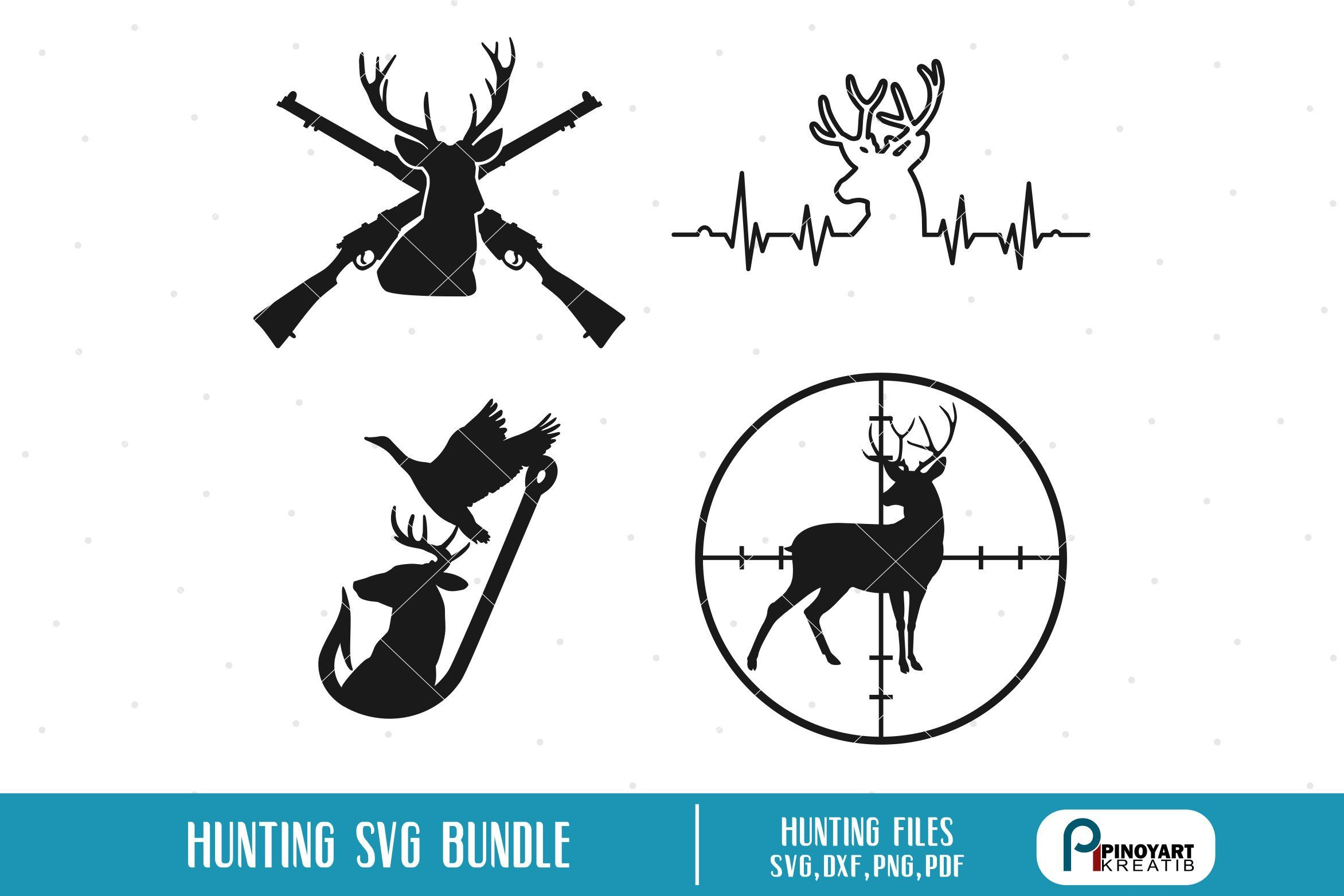 Deer svg, Deer Heartbeat svg, Deer in Scope svg, Hunting