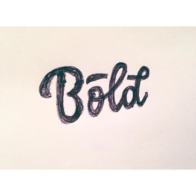Bold - handmade lettering for 365mistakes project - bic pen - Antonin Boiveau