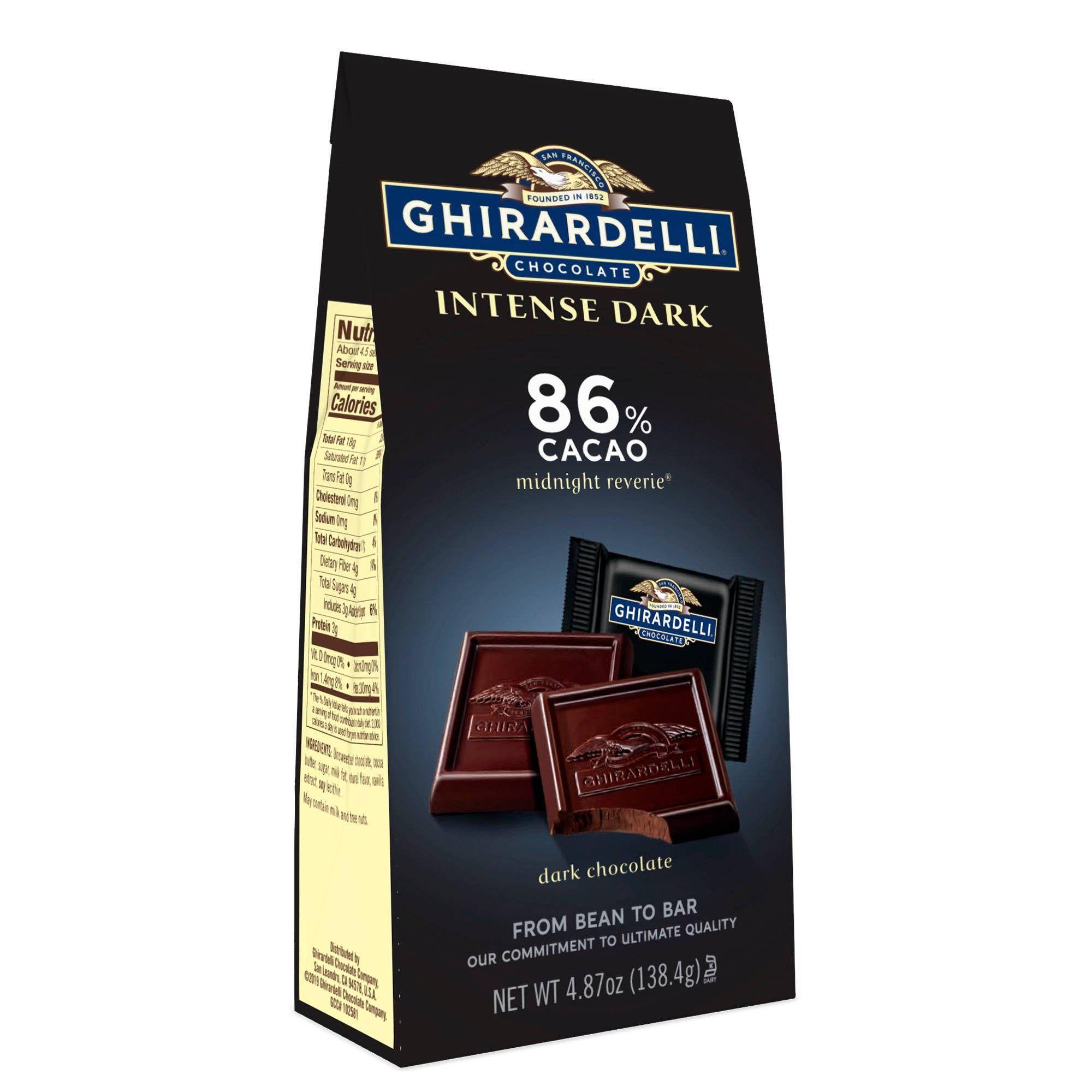 Ghirardelli Intense Dark Midnight Reverie 86 Cacao Chocolate Squares 4 87oz Ghirardelli Dark Chocolate Chocolate Dark Chocolate