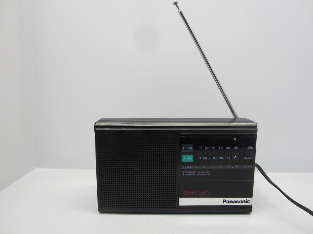 Vintage Panasonic Rf 542 Am Fm Portable Radio Battery Or A C
