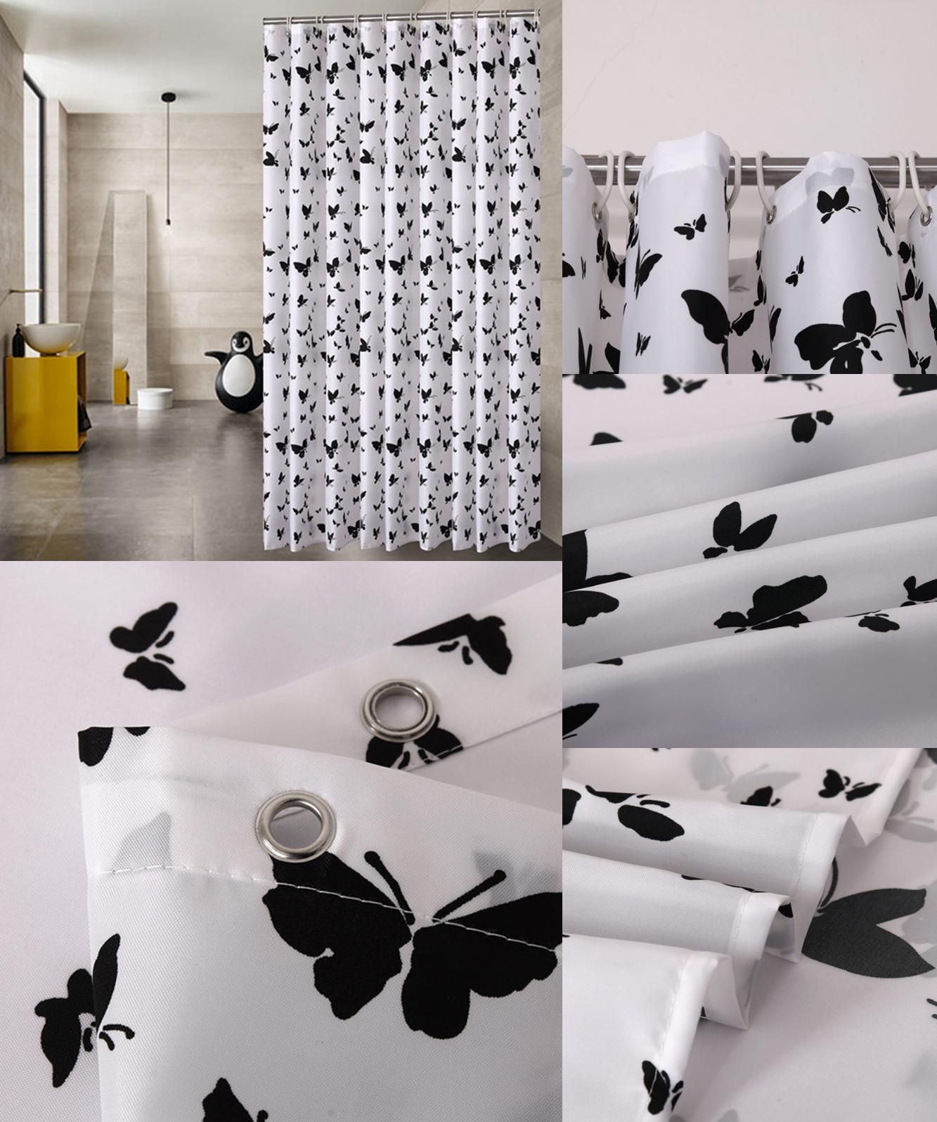 Visit To Buy Fabric Shower Curtain Waterproof Bath Curtain For