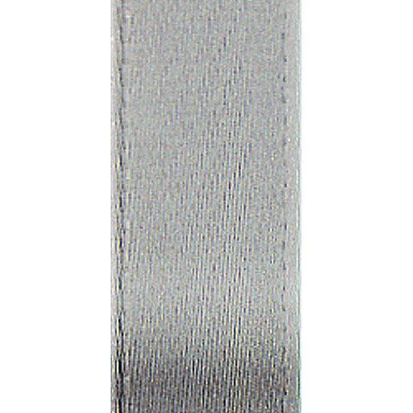 "1 1/2"" SILVER SINGLE-FACE SATIN POLYESTER RIBBON 