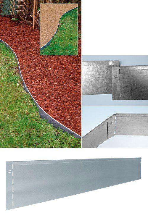 Prächtig Bellissa Rasenkante Metall 118 x 20 cm | Garten | Rasenkanten @VD_07