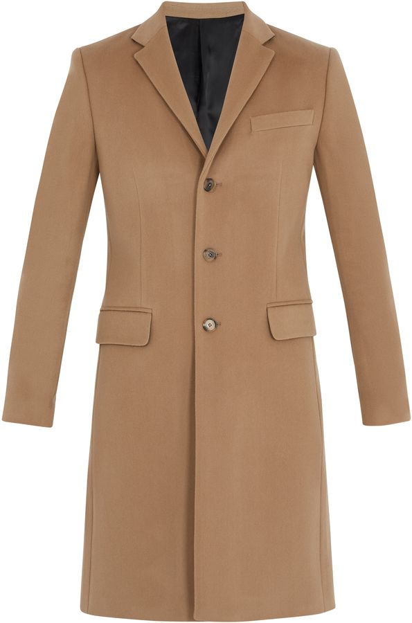 overcoat and MEN cashmere wool Notch GIVENCHY lapel blend ads tOwYAnSqx