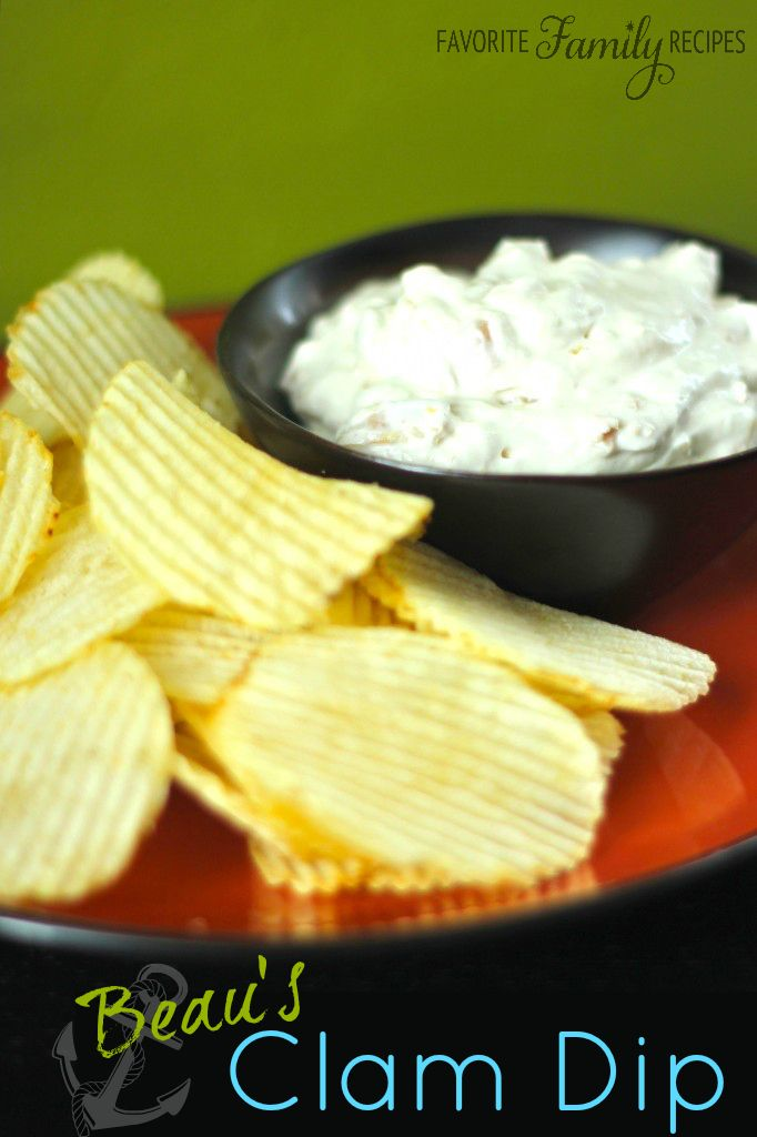 We usually double this recipe and it still doesn't last long! #clamdip #clamdiprecipe