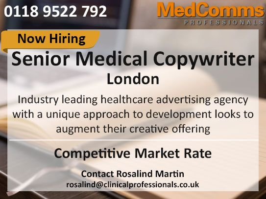 Fantastic Opportunity For A Senior Medical Copywriter Role Is