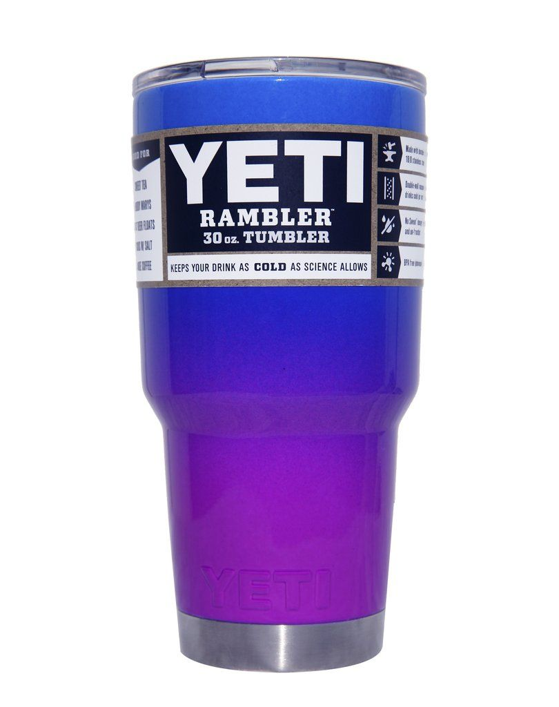 Blue To Purple Ombre Yeti 30 Oz Rambler Tumbler Yeti