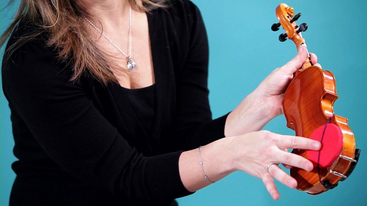 How to Properly Place Shoulder Rest Violin Lessons Viool