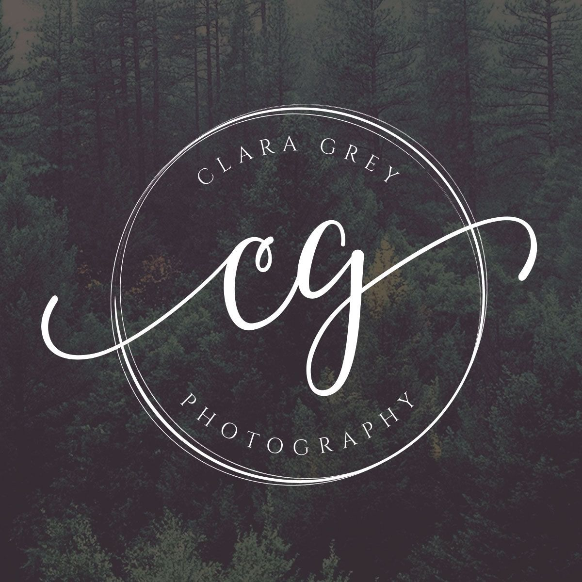 Wedding Photography Business Names: Circle Logo, Initials Logo, Photography Logo Design