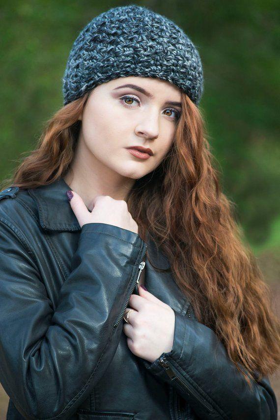 Black Hat Black And Gray Marled Beanie Womens Beanie Teenage Girl