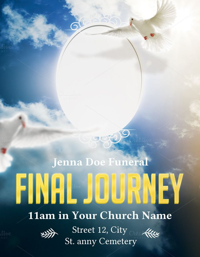 Funeral Flyer   Poster is Adobe Photoshop Print Template Great as - funeral poster templates