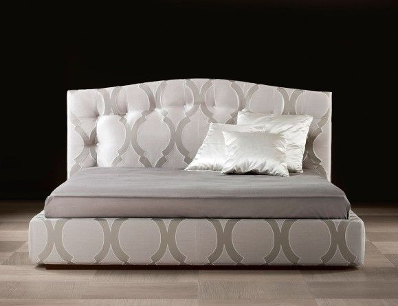 Lusso Gaia Luxury Italian Designer Bed Upholstered in Fabric Nella