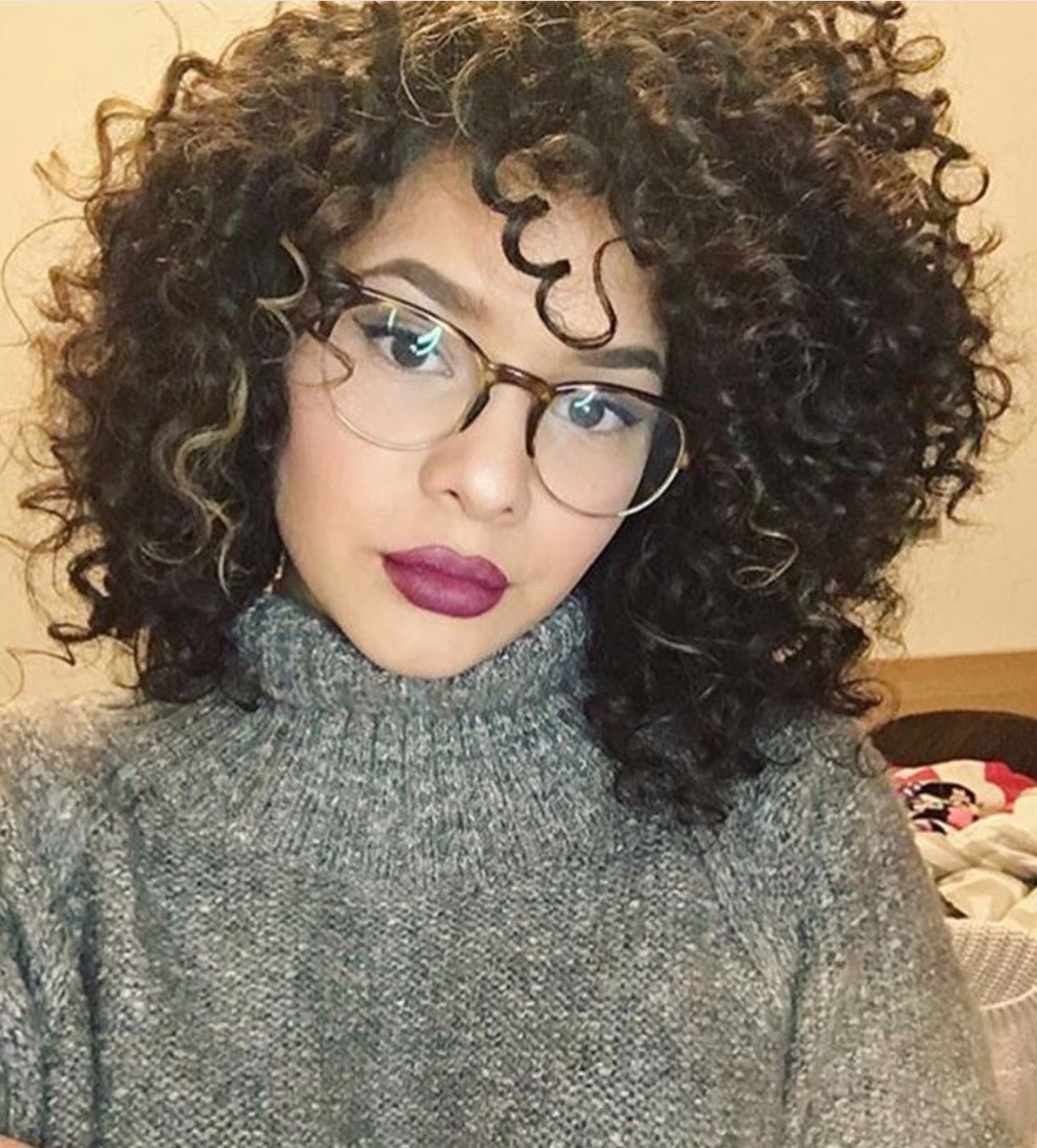 Natural Hair With Glasses Hair Pinterest Curly Hair Styles